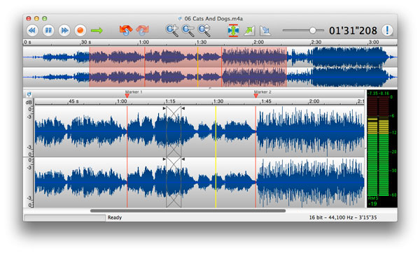 TwistedWave, an Audio Editor