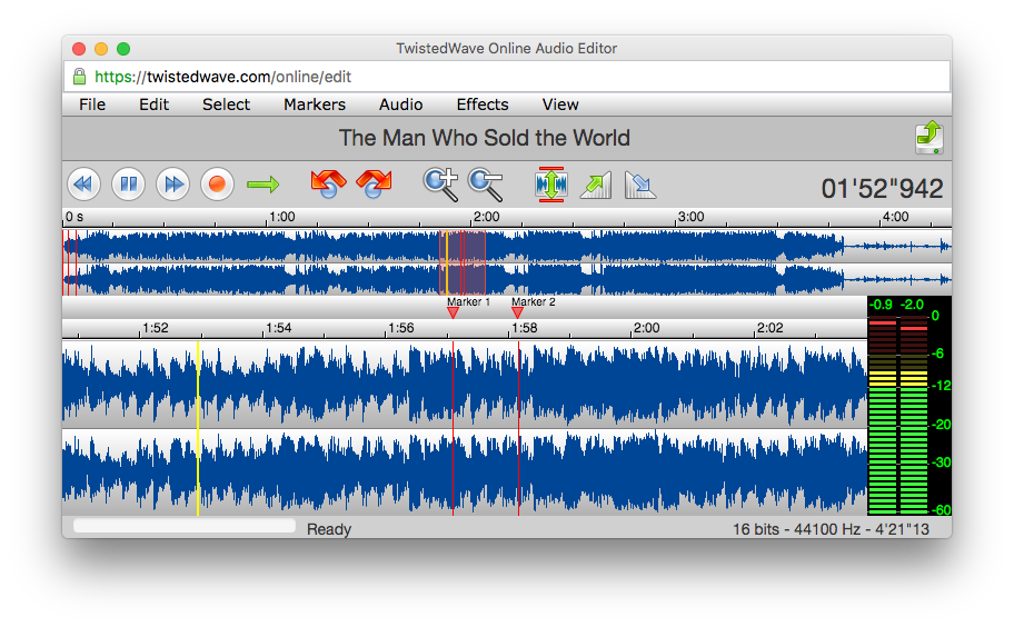TwistedWave Online Audio Editor